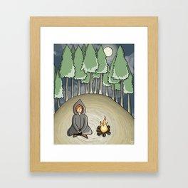 Campfire Girl Framed Art Print