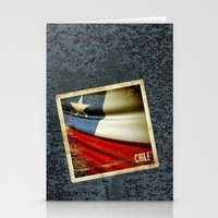 chile Stationery Cards featuring Chile grunge sticker flag by Lulla