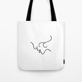 Elegance // Blind Contour Tote Bag