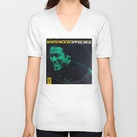 neymar V-neck T-shirts featuring LPFC: Neymar by James Campbell Taylor