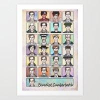 actor Art Prints featuring Benedict the Actor by enerjax