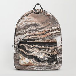 Brown Marble Texture Backpack