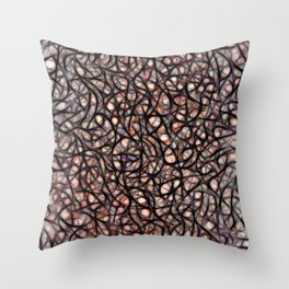 The Web Of Theatrical Neurons Throw Pillow