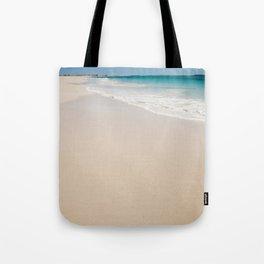 white sandy beach Tote Bag