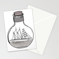 the ship in the bulb Stationery Cards