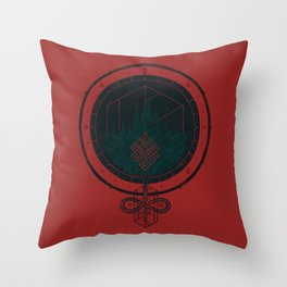 Dark Dahlia Throw Pillow