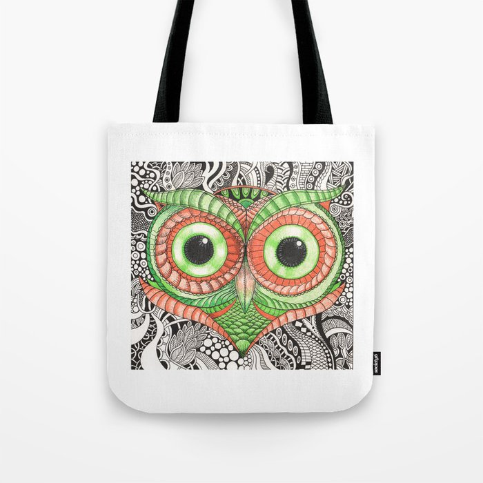 Ornamental Owl Tote Bag By Squidoodle