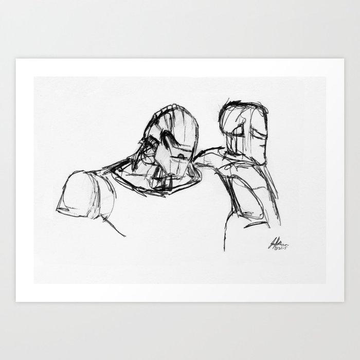 Warbot Sketch #001 Art Print