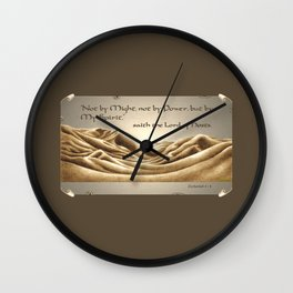 """""""Not By Might"""" Wall Clock"""