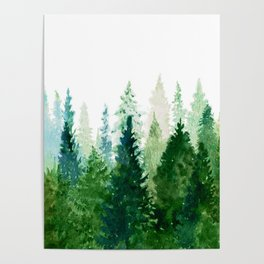 Pine Trees 2 Poster