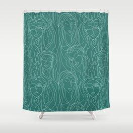 Green Ladies Shower Curtain