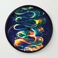 lights Wall Clocks featuring Leptocephalus by Alice X. Zhang