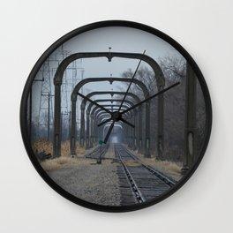 Train Track Pathway Wall Clock