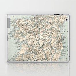 Vintage Map of Ireland (1893) Laptop & iPad Skin