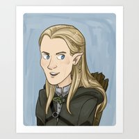 legolas Art Prints featuring Legolas by quietsnooze