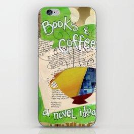 Books and Coffee iPhone Skin