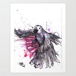 Flappy grey Art Print