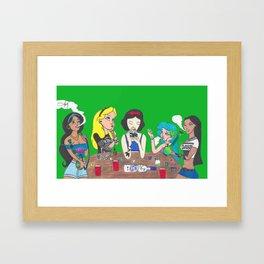 Princess Teaparty Framed Art Print
