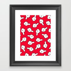 HATERS GONNA HATE! Pattern in red Framed Art Print