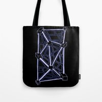 death star Tote Bags featuring Death Star by clawsalina