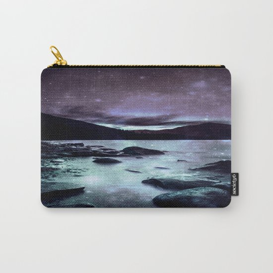Magical Mountain Lake Aqua Lavender Carry-All Pouch