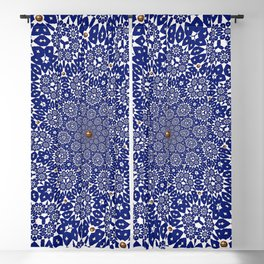 Bleu Gyre Royale Blackout Curtain