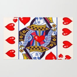 RED QUEEN OF ALL MY HEARTS Rug