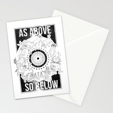 As Above, So Below - Zodiac Illustration Stationery Cards