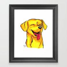 Brush Breeds-Yellow Labrador Framed Art Print