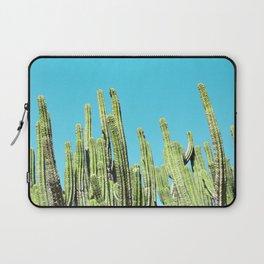 Desert Cactus Reaching for the Blue Sky Laptop Sleeve