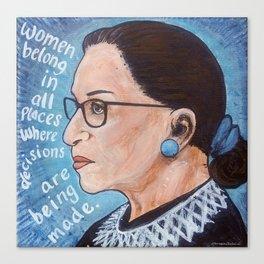Ruth Bader Ginsburg Canvas Print
