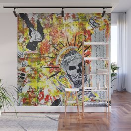 Truth the Fallen King Mixed-Media Collage Wall Mural