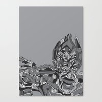 transformers Canvas Prints featuring Transformers: Megatron by Skullmuffins