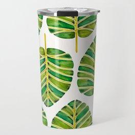 Elephant Ear Alocasia – Green Palette Travel Mug