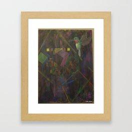 Hummingbird Harri Framed Art Print