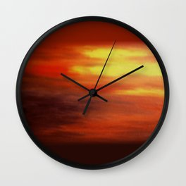 The Relenting Sun Wall Clock