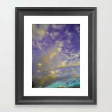 Candy Clouds Framed Art Print