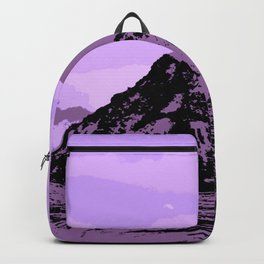 Chugach Mountains - EggPlant Pop Art Backpack