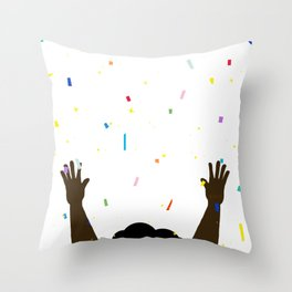 Confetti In My Afro Throw Pillow