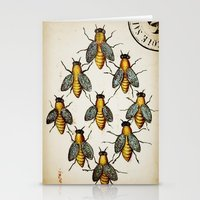 medieval Stationery Cards featuring Medieval Swarm by Vintage Avenue
