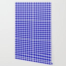 Medium Blue Buffalo Plaid Wallpaper