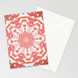 Romantic Peach Mandala Design Stationery Cards