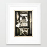 the wire Framed Art Prints featuring THE WIRE  by Messypandas