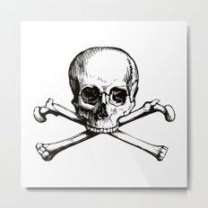 Skull and Crossbones | Jolly Roger Metal Print