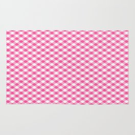 Pink Roses in Anzures 1 Gingham 1 Rug