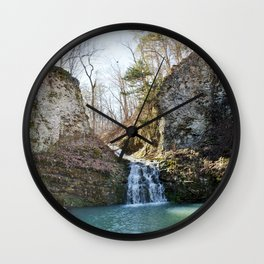 Alone in Secret Hollow with the Caves, Cascades, and Critters, No. 1 of 21 Wall Clock