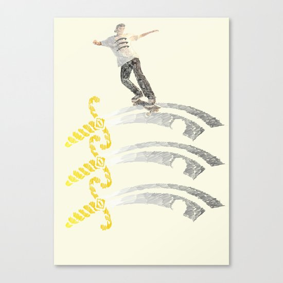essex skateboarding  Canvas Print