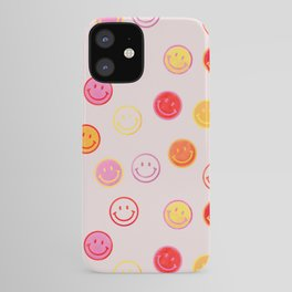 Smiling Faces Pattern iPhone Case