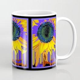 Surreal Sunflower Eye in Purple-green-black Abstracted Designs Coffee Mug