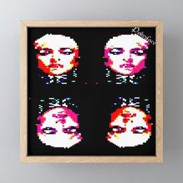 Pokerface. Digital TELETEXT ART. 2021. Music 21st century. Framed Mini Art Print